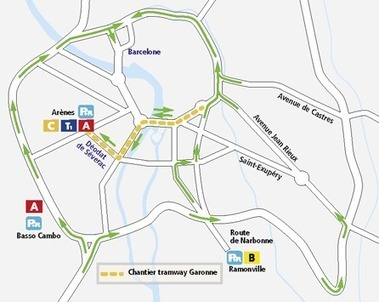Le tram Garonne prend forme, la circulation est modifiée à compter du 13 février 2012 | Toulouse La Ville Rose | Scoop.it