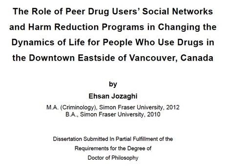 THESIS: The role of peer drug users' social networks and harm reduction programs in changing the dynamics of life for people who use drugs | Drugs, Society, Human Rights & Justice | Scoop.it