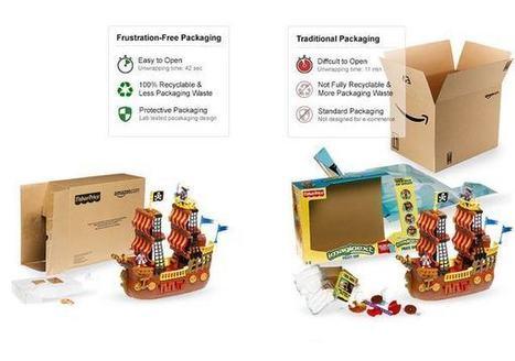 Amazon riduce gli imballaggi grazie ai pacchi ad apertura facile | Packaging | Scoop.it