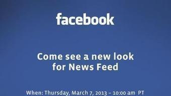 Facebook to unveil new look for News Feed | Smartteens | Scoop.it