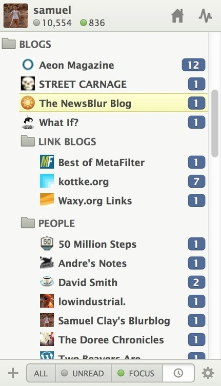 NewsBlur: Use the new Saved Stories view to find saved stories by site | RSS Circus : veille stratégique, intelligence économique, curation, publication, Web 2.0 | Scoop.it