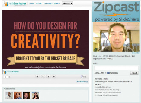 Zipcast | Easy web meetings for free - from slideshare | teaching with technology | Scoop.it