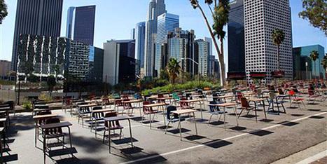 TweenTribune | News articles for kids, middle school & teens | Students line street with desks in protest | tweentribune.com | Unit 5 Current Events | Scoop.it