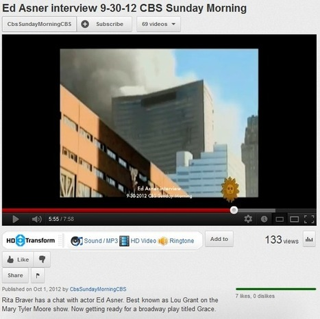 Ed Asner Questions 9/11 on CBS Sunday Morning- Sept 30, 2012 | 911Blogger.com | September 11 2001 | Scoop.it