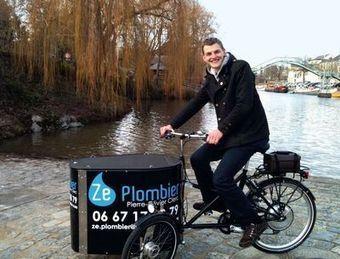 Ze Plombier : il se déplace à vélo pour les dépannages en centre ville | Innovations, tendances & start-up | Scoop.it