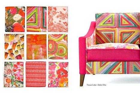 Nouveau catalogue de tissus lalie design tiss - Tissu d ameublement design ...