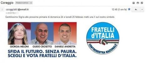 Il modo peggiore di stare online in campagna elettorale: Fratelli d'Italia   Rudy Bandiera   Scoop.it
