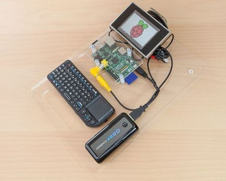 Raspberry Pi turned into a portable workstation   Chips   Geek.com   rasbery pi console   Scoop.it