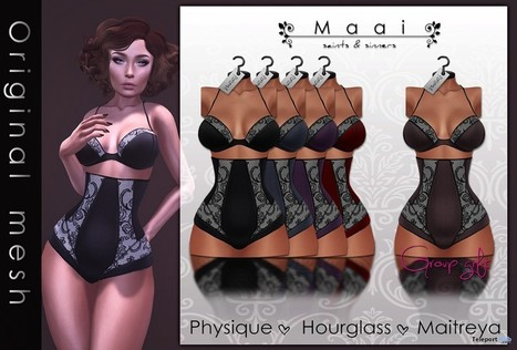 Angelica Lingerie Sugar Group Gift by MAAI | Teleport Hub - Second Life Freebies | Second Life Freebies | Scoop.it