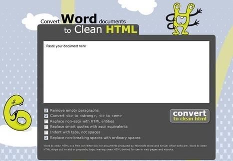 Un service web pour générer du code HTML clean à partir d'un document Word | netnavig | Scoop.it
