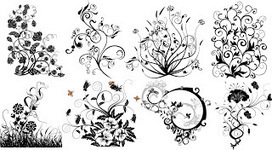 6 Floral Ornaments 8fw Vector - Vector | Icon | Wallpaper | Vector Icon Wallpaper | Scoop.it