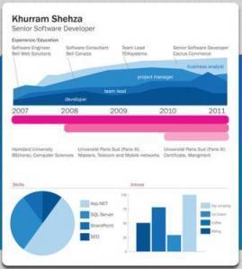 Vizualize.Me: la visualisation deCV | MediaTech | All about Data visualization | Scoop.it