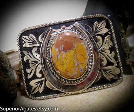 Stone Canyon Jasper Silver Tone Metal Western Gemstone Belt Buckle | Wire Wrapped Stone | Scoop.it