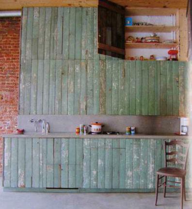 eco-kitchen-cabinets-reclaimed.jpg (467x507 pixels) | House refurbishment | Scoop.it