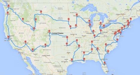 Computing the optimal road trip across the U.S. | Randal S. Olson | enjoy yourself | Scoop.it