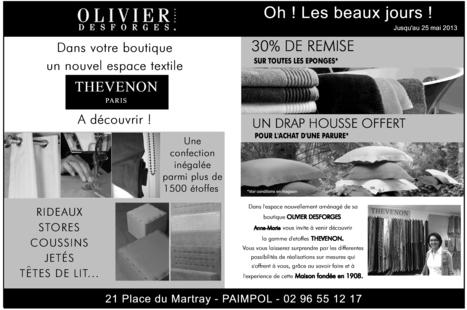 Nouvelle marque à la boutique Olivier Desforges de Paimpol   Publiannonce   Scoop.it