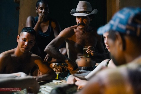 Domino players by a sidestreet in Trinidad Cuba |  Adrian Seah | Fuji X-Pro1 | Scoop.it