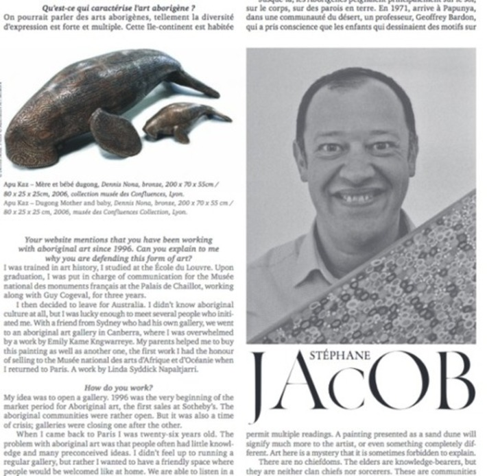 Une interview de Stéphane Jacob à lire à l'occasion du Tribal Art Show, 26-29 mai 2016 | Art Aborigène | À la une | Scoop.it