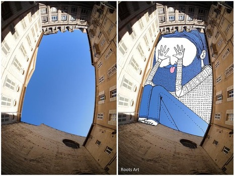 Sky Art: Thomas Lamadieu Illustrates in the Sky Between Buildings... | Art for art's sake... | Scoop.it