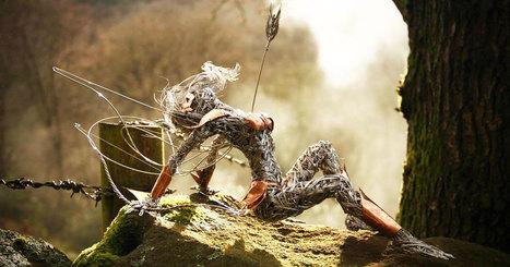 Ces incroyables sculptures de fées en métal semblent s'envoler au gré des vents | dans l'art du temps | Scoop.it