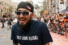 Sergio Romo's 'Illegal' Shirt a Showstopper at San Francisco Giants Parade - HispanicBusiness.com | Surveillance Studies | Scoop.it