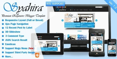ThemeForest - Syahira v1.10 - Responsive Blogger Template | Blogger themes | Scoop.it