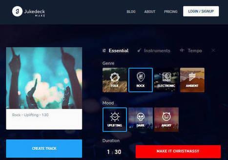 Jukedeck, le générateur de musique libre de droits en ligne | Souris verte | Scoop.it