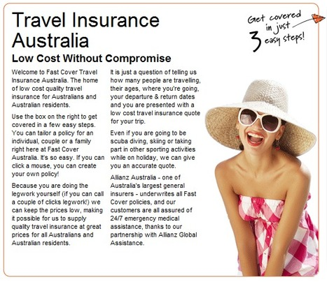 Fast Cover Pty Ltd | Cheap Travel Insurance | Scoop.it