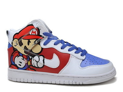 Nike Super Mario High Top Cartoon Dunks Nike Dunk super mario / super mario sneakers | Hello Kitty Nike Dunks | Scoop.it