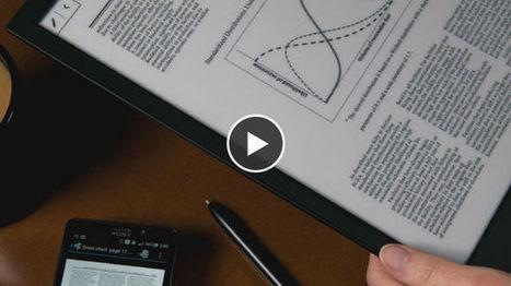 Digital Paper : Sony dévoile une feuille de papier électronique wifi - Maxisciences | Cloud and WiFi HotSpot2.0+ | Scoop.it