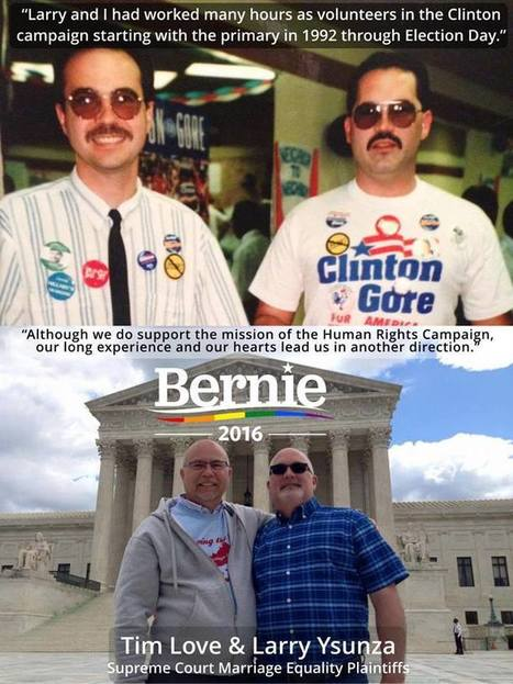 I Fought For Marriage Equality at the Supreme Court. Here's Why I'm Now Fighting for Bernie Sanders | Bernie Sanders' Campaign | Scoop.it