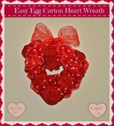 Valentine's Decorations for Preschoolers: Egg Carton Heart Wreath ... | Classroom Environment | Scoop.it