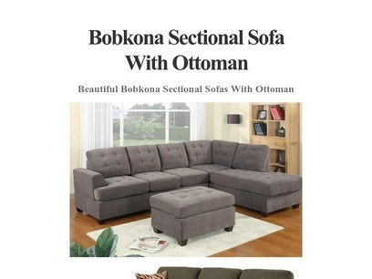 Bobkona Sectional Sofa With Ottoman 2015   2014   Scoop.it