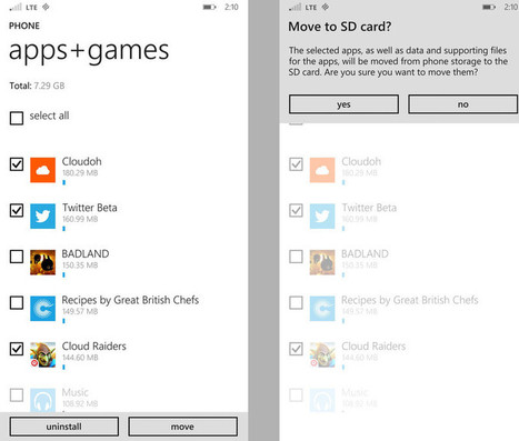 How to move apps or games to an SD card in Windows Phone 8.1 | Pocketpt.net | Scoop.it