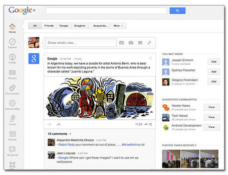 Une refonte spectaculaire de Google+ | Social Media l'Information | Scoop.it
