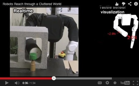 Robots able to reach through clutter with whole-arm tactile sensing (w/ video) | Information Powerhouse | Scoop.it