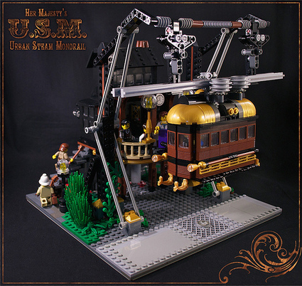 The Urban Transit of a More Elegant Age | The Brothers Brick | LEGO Blog