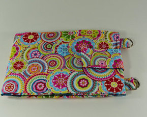 Women's Wallet Organizer with Card Slots - 2 in 1 - Bright and Colorful Circles and Flowers - Edit Listing - Etsy | Tramp Lee Designs Bags | Scoop.it