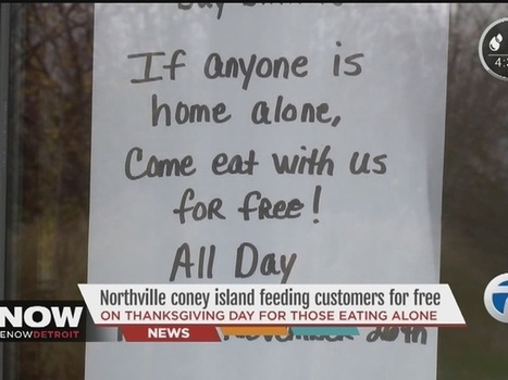 Northville coney island feeding customers for free if you're alone on Thanksgiving | Middays with Becky in DC | Scoop.it