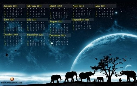 Year 2013 Calendar – Best Desktop Wallpaper Calendar 2013 | Webgranth - knowledgebase for web designers & developers | Scoop.it