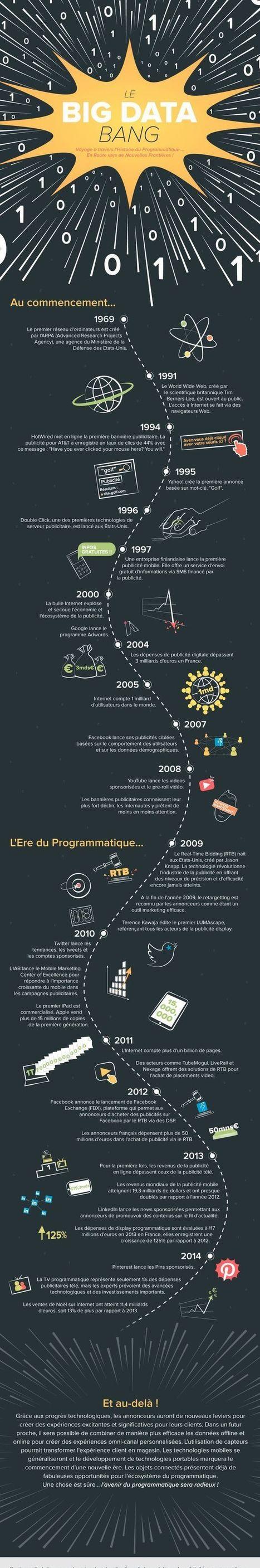 Histoire de la publicité programmatique (infographie) | Acheteurs Acheteuses du siècle 21 - Buyers of 21th century | Scoop.it
