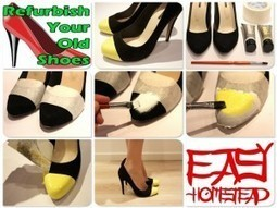 Refurbish Your Old Shoes DIY | DIY-UPCYCLING-RECYCLED | Scoop.it
