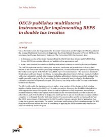 OECD publishes multilateral instrument for implementing BEPS | International Tax | Scoop.it