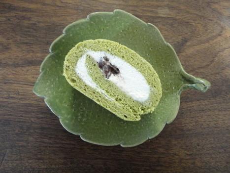 Roll cake au thé vert et haricots rouges   CuisineJaponaise   Scoop.it