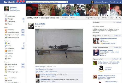 Facebook restreint la vente d'armes entre particuliers | Libertés Numériques | Scoop.it