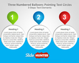 Free Three Numbered Balloons PowerPoint Template   Financial Planning   Scoop.it