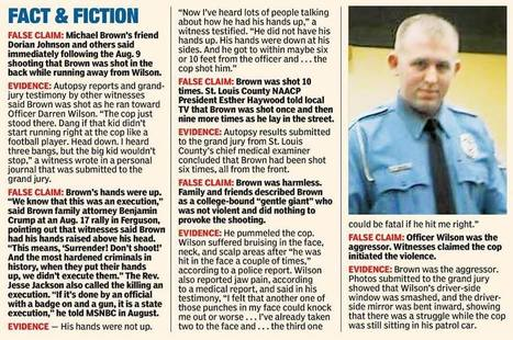 #Ferguson Fact vs Fiction--great infographic and article summing up the truth   Littlebytesnews Current Events   Scoop.it