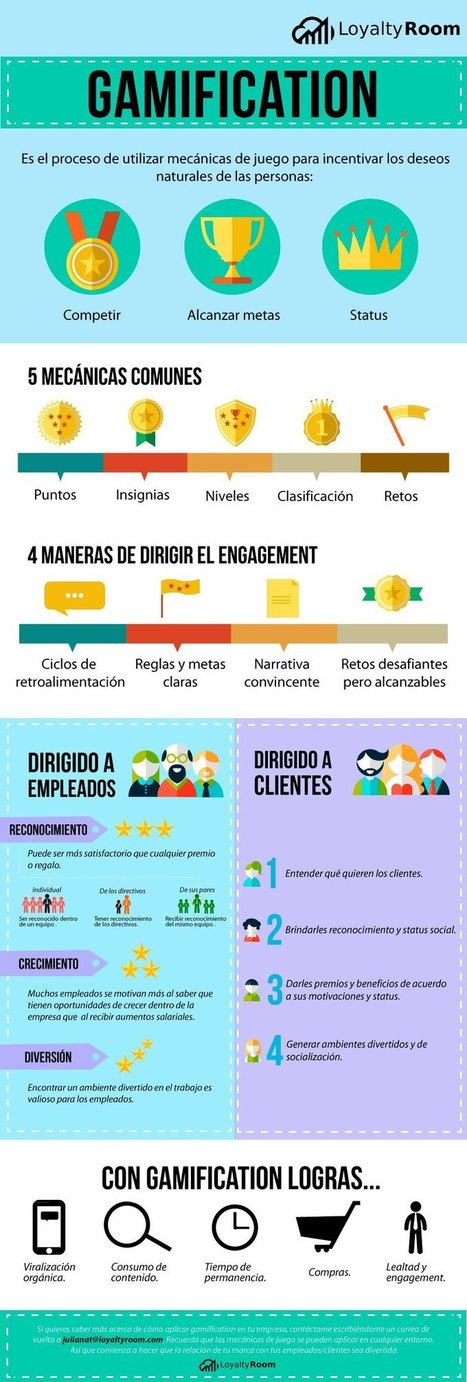 Qué puedes conseguir con la Gamificación en tu empresa #infografia #infographic #marketing | Seo, Social Media Marketing | Scoop.it