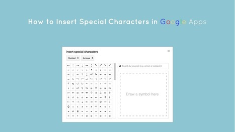 How to Insert Special Characters in Google Docs, Slides and Drawings - The Gooru | Using Google Drive in the classroom | Scoop.it