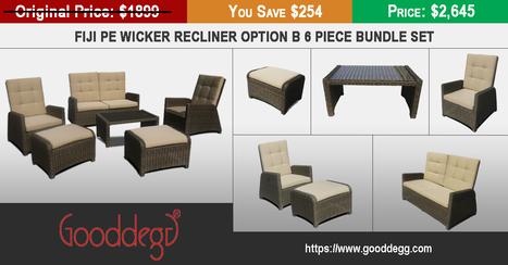 Best Value PE Synthetic Wicker Recliner Sofa Set at Gooddegg Online Home Decor Store | Home Decor (Wicker Furniture) | Scoop.it